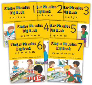 Finger Phonics Big Books 1-7 Precursive RGB