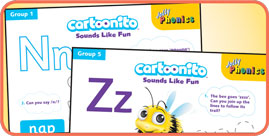 Cartoonio Activity Sheets