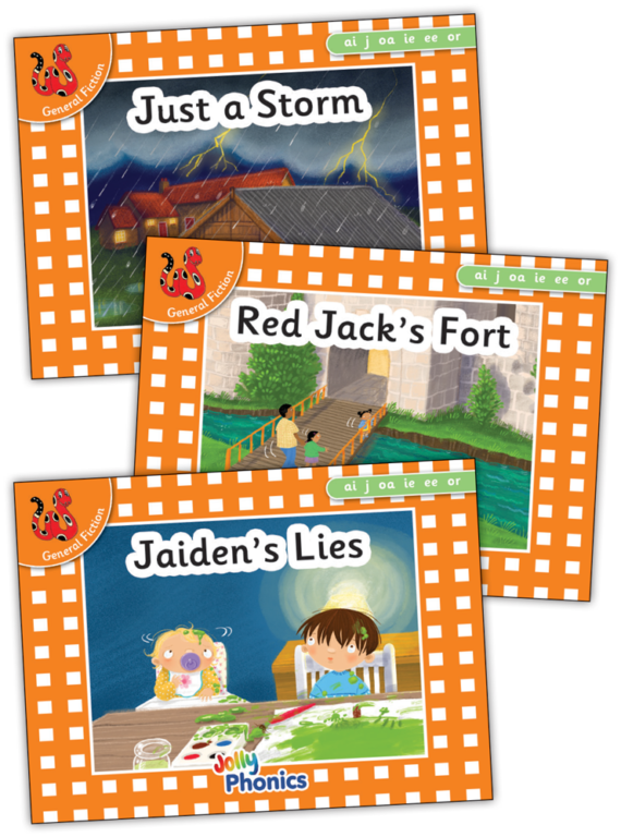Jolly Phonics Orange Readers Prec Set 4