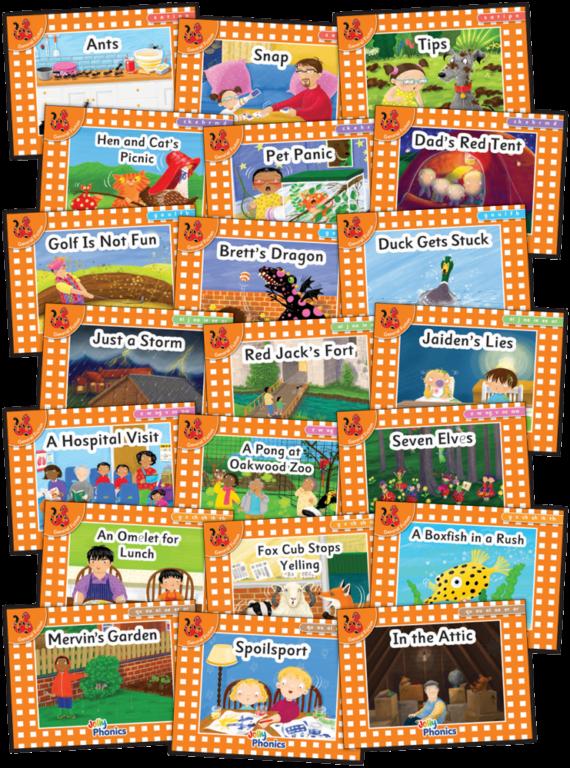 Jolly Phonics Orange Readers Print Complete Set